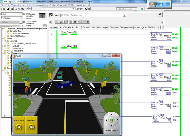 Plclogix 3d worlds in the traffic light world a ladder logic ccuart Image collections